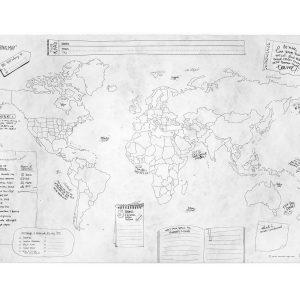 Kleine Reizigers Webshop | Reisdagboek wereldkaart Awesome Maps