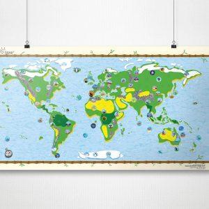 Kleine Reizigers Webshop | Wereldkaart voor kinderen
