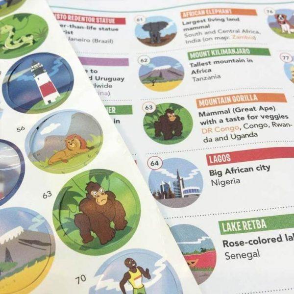 Kleine Reizigers Webshop | Wereldkaart voor kinderen Awesome Maps