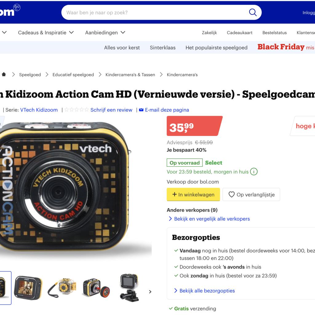 Black Friday Deal Vtech Kidizoom Action Cam kindercamera